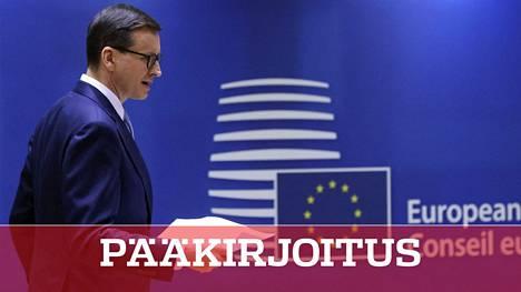 Puolan pääministeri Mateusz Morawiecki puolusti hallituksensa linjauksia Eurooppa-neuvoston kokouksessa torstaina Brysselissä.