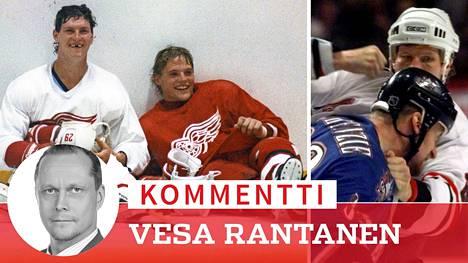 Bob Probert (vas.) kovimmista kovin NHL:ssä aikana, jolloin väkivalta oli olennainen osa jääkiekkoa.