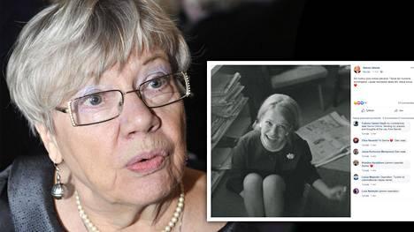 Tuulikki Ukkolan tytär Sanna Ukkola kirjoitti äitinsä poismenosta Facebook-tilillään.