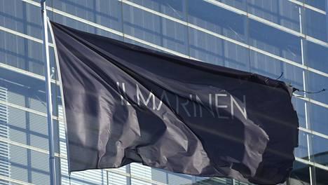 Eläkevakuutusyhtiö Ilmarisen lippu yhtiön pääkonttorilla Helsingissä 1. marraskuuta 2019.