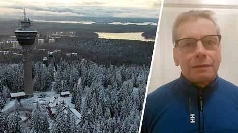 Jari Mäkelä kävi Puijon hiihtokisoissa kipakan keskustelun kilpailunjohtajan kanssa maskipakosta. Uhattua, tuhannen Sveitsin frangin sakkoa, hänelle ei kuitenkaan lopulta langetettu.