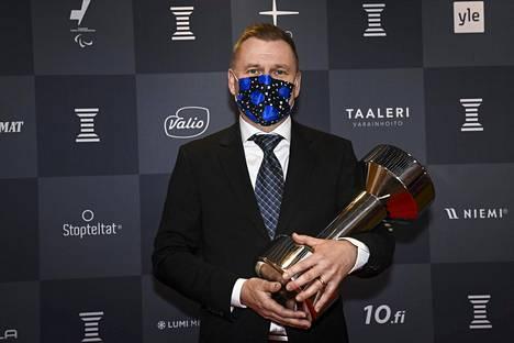 Simo Tarvonen voitti Taustavoima-palkinnon.