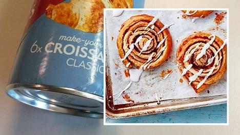 Valmistaikinoita voi hyödyntää luovasti. Croissanttien tekemiseen tarkoitetusta taikinasta syntyy nopeasti esimerkiksi korvapuusteja.
