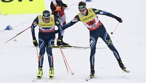 Jim Härtull ja Ilkka Herola ylsivät yhdistetyn pariviestissä upeasti neljänneksi.