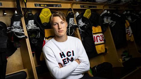 Aatu Räty on pelannut tällä kaudella pääasiassa Kärppien A-junioreissa.
