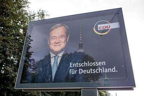 Armin Laschet on Angela Merkelin CDU-puolueen ehdokas seuraavaksi liittokansleriksi.