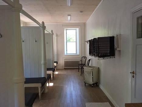 Ruukin Sauna toimii nykyään tilaussaunana ja kahvilana.