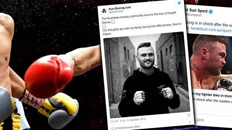 Australian nyrkkeilyväki suree Dwight Ritchien kuolemaa.