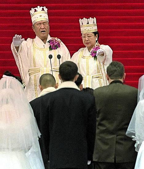Sun Myung Moon (vas.) vuonna 2000.