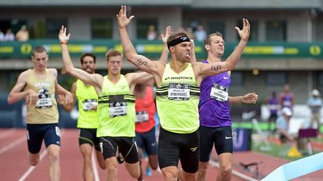 Nick Symmonds juhli 800 metrilä USA:n mestaruuskisoissa heinäkuun lopulla.
