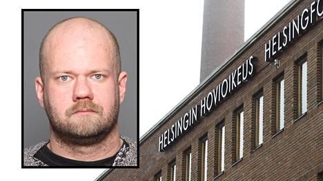 Helsingin hovioikeus tuomitsi kuvassa näkyvän Tuomo Antti Ahosen neljän vuoden vankeuteen.