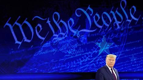 Trump esiintyi tiistaina ABC Newsin vaalihaastattelussa Philadelphiassa.