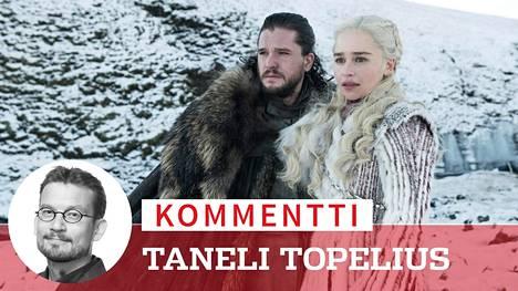 Game of Thrones -sarjan viimeisen kauden avausjaksossa Jon (Kit Harington) ja Daenerys (Emilia Clarke) saapuvat Talvivaaraan.