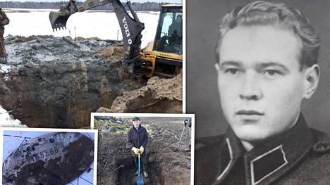 Yksi kansakoulun kaivosta Punnuksen kylältä Karjalankannaksella löytyneistä tuntolevyistä kuului 78 vuotta sitten kaatuneelle Aate Matias Hautamäelle.