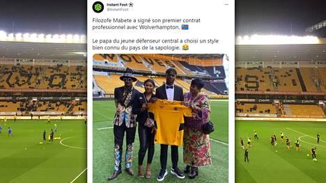 Filozofe Mabete sai sopimuksen Wolverhamptoniin.