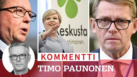 Keskustan ministereiden Mikä Lintilän, Annika Saarikon ja Matti Vanhasen toimet hallituksessa eivät vakuuta yrittäjiä.
