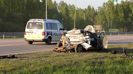 Hätäkeskus sai ilmoituksen onnettomuudesta kello 18:16.