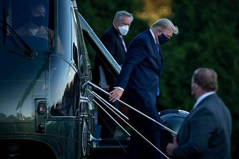 Donald Trump saapui Walter Reedin sairaalaan viime viikon perjantaina.
