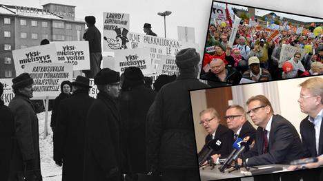 """""""Tammikuun kihlauksesta"""" alkoi Suomen pitkä kolmikanta-taival."""