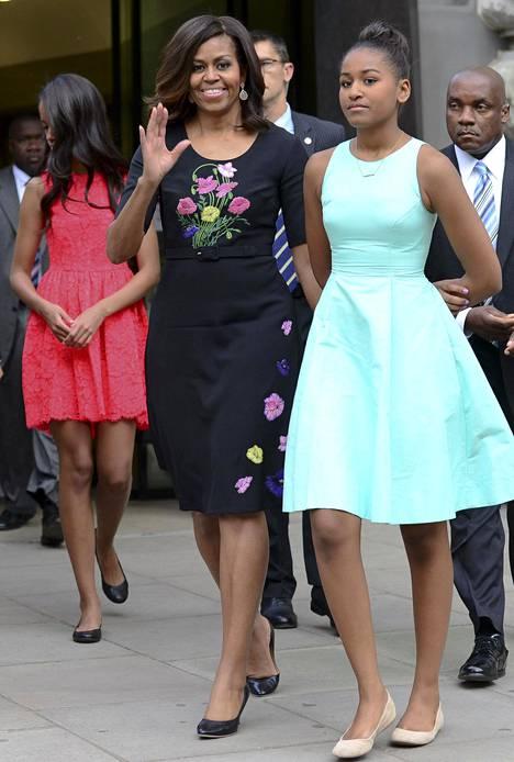 Michelle ja Sasha Obama Lontoossa kesällä 2015.