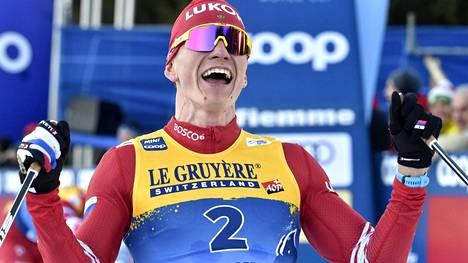 Aleksandr Bolshunovin saldo kahdeksan osakilpailun Tour de Skiltä oli viisi voittoa, kaksi kakkossijaa ja yksi kolmossija.