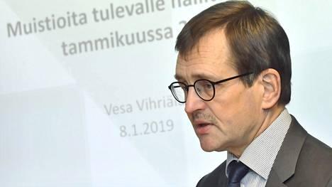 Elinkeinoelämän tutkimuslaitoksen toimitusjohtaja Vesa Vihriälä.