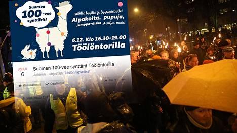Lapsille suunnattuun Suomi 100-vee -tapahtumaan piti tulla näytille alpakoita ja kaneja.