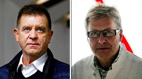Ortopedi Eero Hyvärinen (oik.) työskenteli paljon Aki Hintsan kanssa.