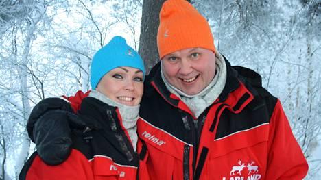 Timo Jutila ja Satu-rakas ovat onnellisia yhdessä.
