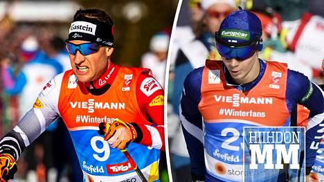 Ilman Eero Hirvosen (oik.) apua Bernhard Gruberin (vas.) ja koko Itävallan joukkueen viesti olisi mennyt pilalle.