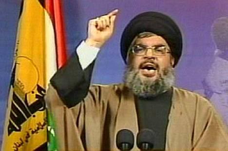 Hizbollah-liikkeen johtaja Hassan Nasrallah uhkasi torstaina Israelia avoimella sodalla.