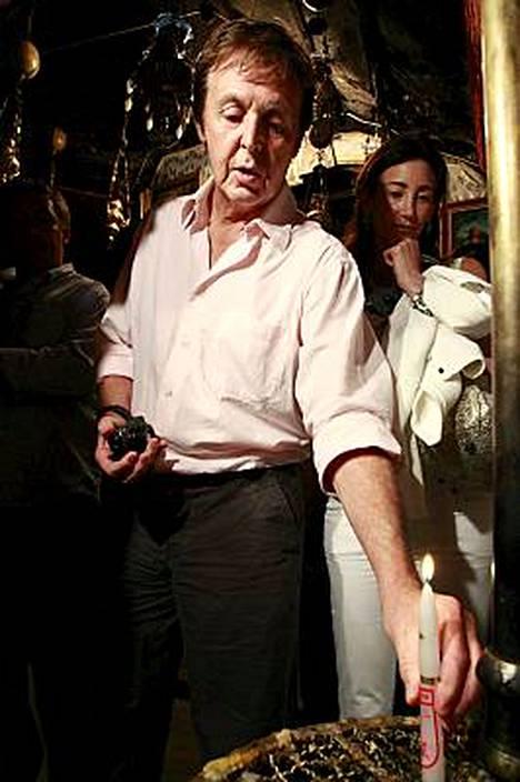 Paul McCartney vieraili keskiviikkona Beetlehemissä.