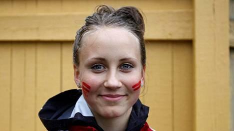 Viivi Lehikoinen kuvattuna SM-viesteissä Eläintarhan kentällä Helsingissä heinäkuun alussa.