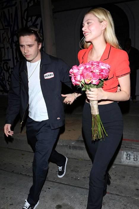 Brooklyn Beckham ja Nicola Peltz tammikuussa Los Angelesissa.