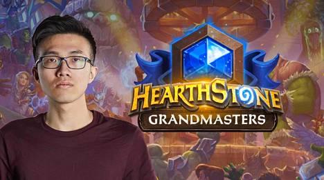 """Ng """"blitzchung"""" Wai Chung osoitti tukensa Hongkongin mielenosoituksille kesken Grandmasters-sarjan turnauslähetyksen."""