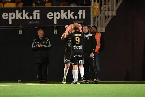 Vasara on iskenyt SJK:lle 11 maalia kahden kauden aikana.