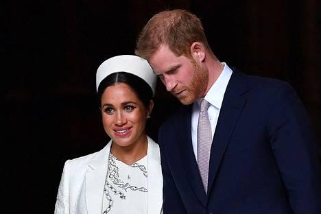 Herttuatar Meghan ja prinssi Harry vuonna 2019.