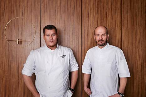 Eero Vottonen ja Hans Välimäki johtavat uutta Palace-ravintolaa.