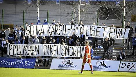 Urheilun oikeusturvalautakunta ei ollut Tampere Unitedin fanien kanssa samalla linjalla.
