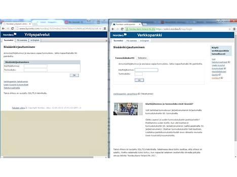 Phishing-hyökkääjät naamioituvat luotettaviksi sivustoiksi. Kuvassa aiemmin Nordean nimissä tehty kalastelu.