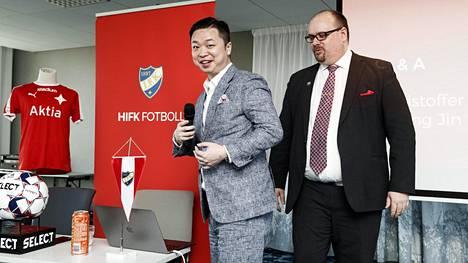 Kiinalainen Lucas Chang Jin on Veikkausliigan HIFK:n uusi pääomistaja.