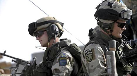 Ruotsalaisia ISAF-joukkoja Afganistanissa.
