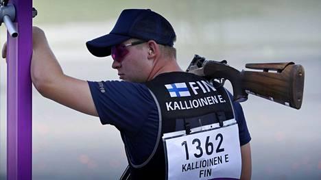 Eetu Kallioinen ampui sunnuntaina rikki 74 kiekkoa 75:stä.