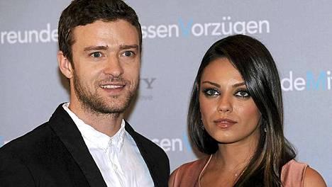 Justin Timberlake ja Mila Kunis tekivät yhdessä Friends with Benefits -leffan.