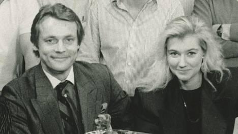 Tänään, tässä ja Nyt -ohjelman Timo T.A. Mikkonen ja Maria Guzenina 1989.