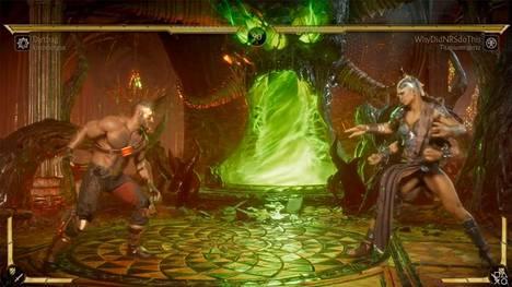Sheeva-hahmolla pelannut Titaniumtigerzz hylättiin asiattoman nimen vuoksi. Sheeva on kuvassa oikealla puolella. Kuvakaappaus turnauslähetyksestä.