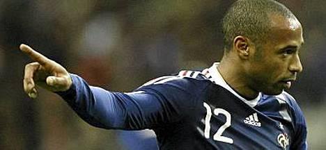 Thierry Henry ja Ranska eivät ole MM-kisojen lohkoarvonnassa ykköskorin joukkue.