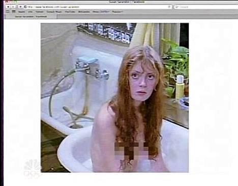 Susan Sarandonin 70-luvun nakukuva tähden omilla Facebook-sivuilla.