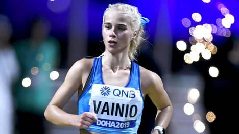 Alisa Vainio sijoittui Dohan MM-kisojen maratonkilpailussa 26:nneksi syyskuussa 2019. Sen jälkeen hän ei ole kilpaillut kertaakaan.