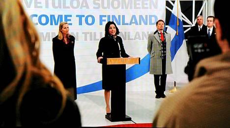 HBO:n Veep - Rouva varapresidentti -sarjassa matkustettiin Suomeen.